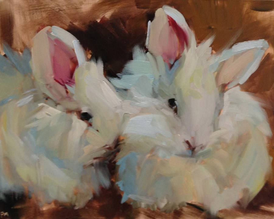 """Cottonballs"" original fine art by Patti McNutt"