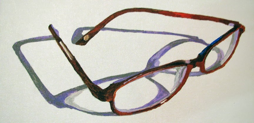"""Glasses Open"" original fine art by Nan Johnson"