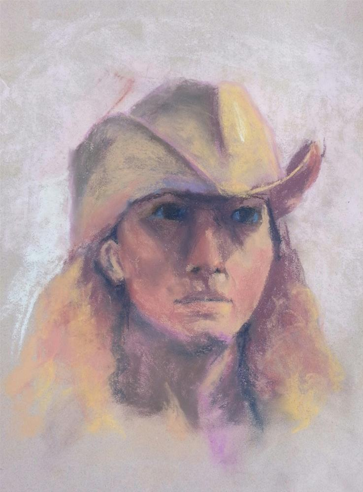 """Cowgirl"" original fine art by Becky Chappell"