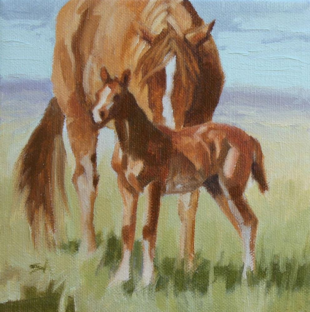 """Mother Love"" original fine art by Susan Ashmore"