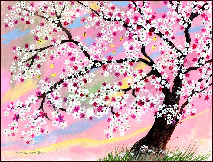 """Cherry Blossom Time"" original fine art by Patricia Ann Rizzo"
