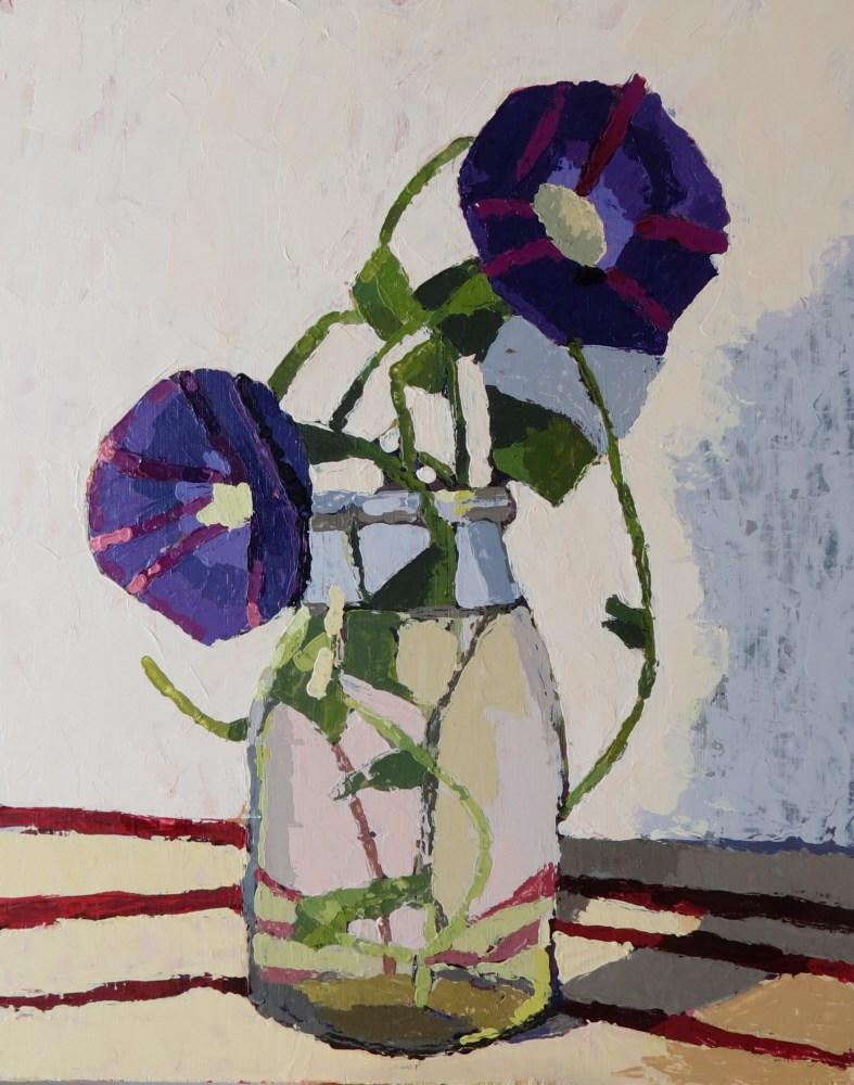 """Morning Glory"" original fine art by Joan Wiberg"