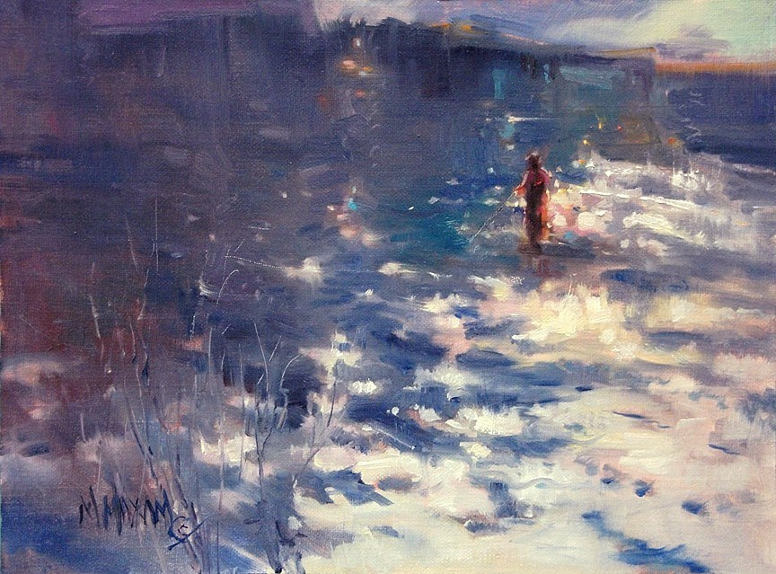 """Shimmer - Light On The Water"" original fine art by Mary Maxam"