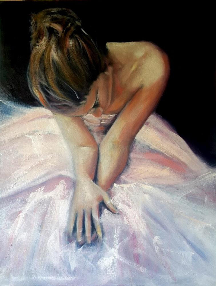"""The final bow"" original fine art by Rentia Coetzee"