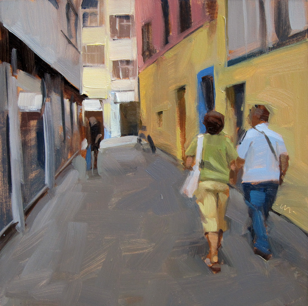 """Together in Freiburg"" original fine art by Carol Marine"