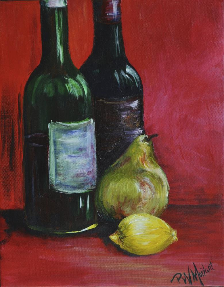 """Red, Red Wine"" original fine art by Peggy W Morvant"