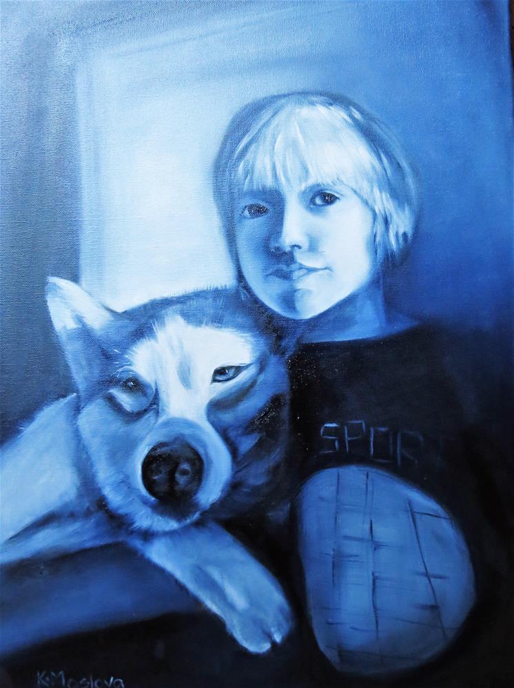 """Friends"" original fine art by Kulli Maslova"