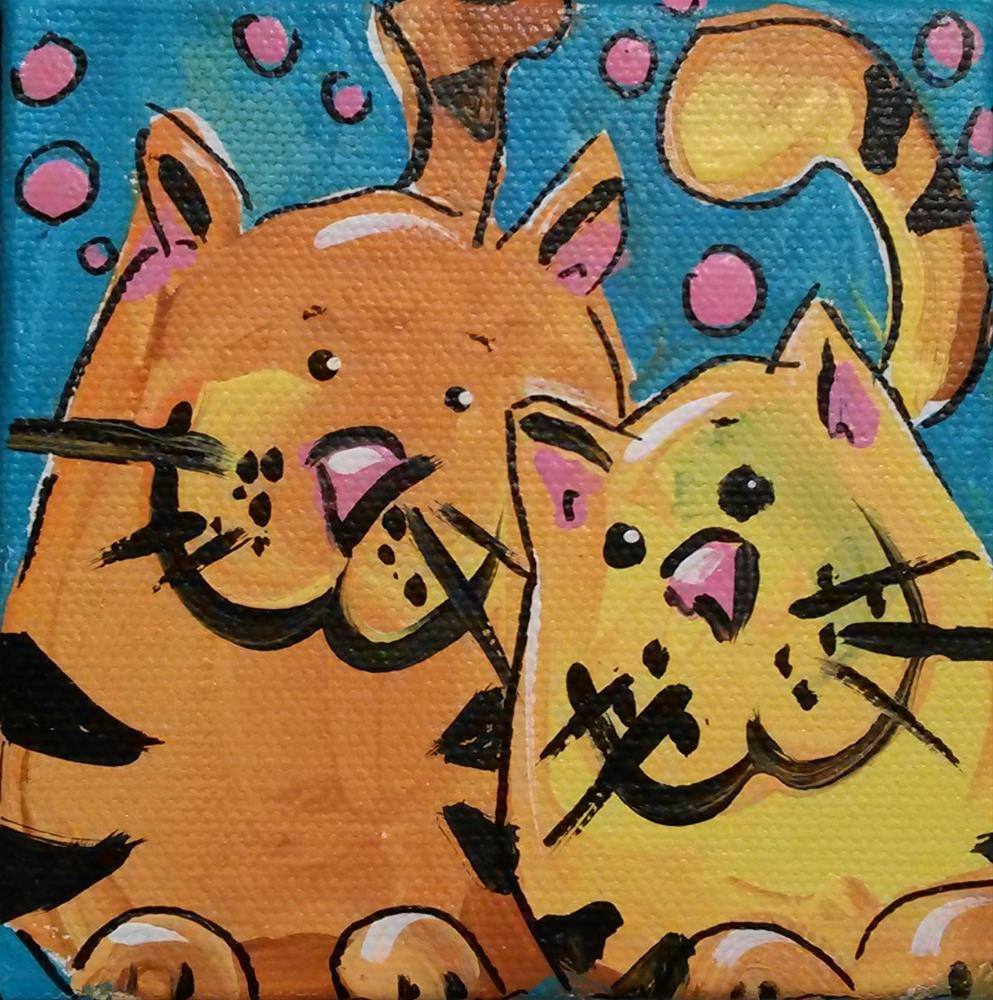 """Chunky Kitties"" original fine art by Terri Einer"