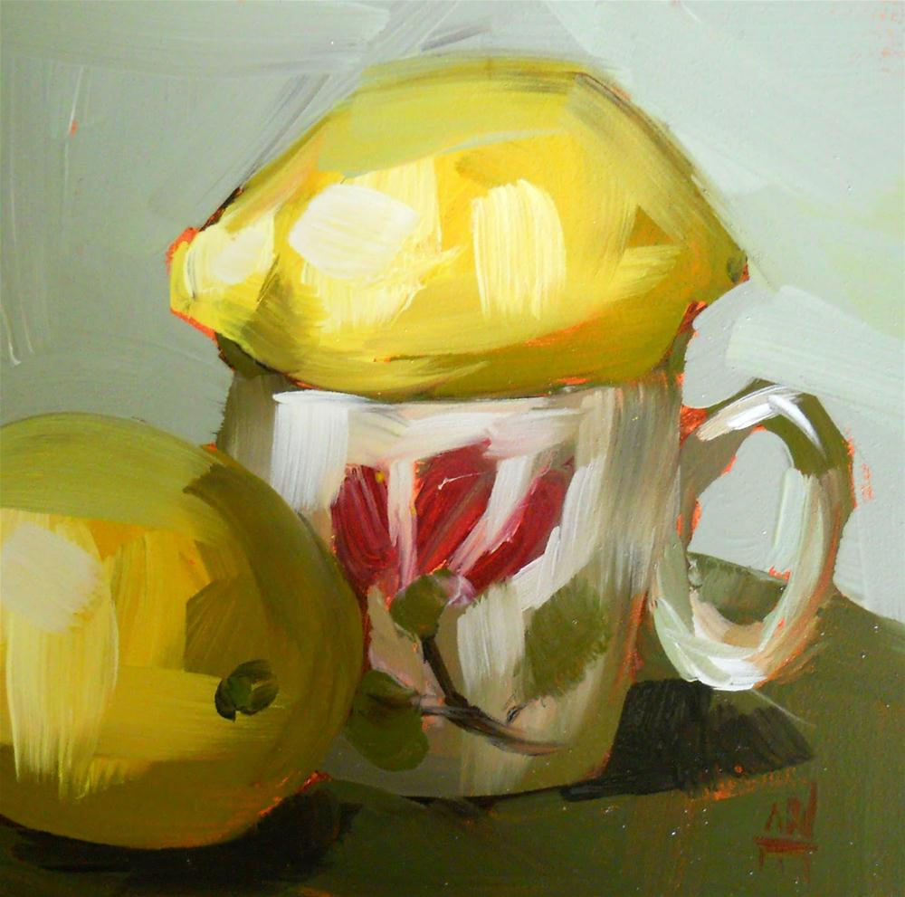 """lemons for breakfast"" original fine art by Angela Moulton"