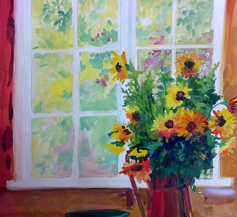"""A Sunny Window"" original fine art by Mary Maxam"