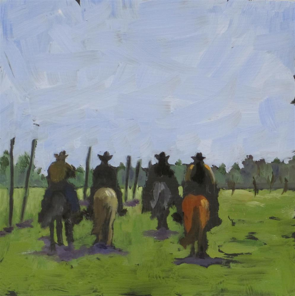 """Amarilla by Morning"" original fine art by Judy Elias"