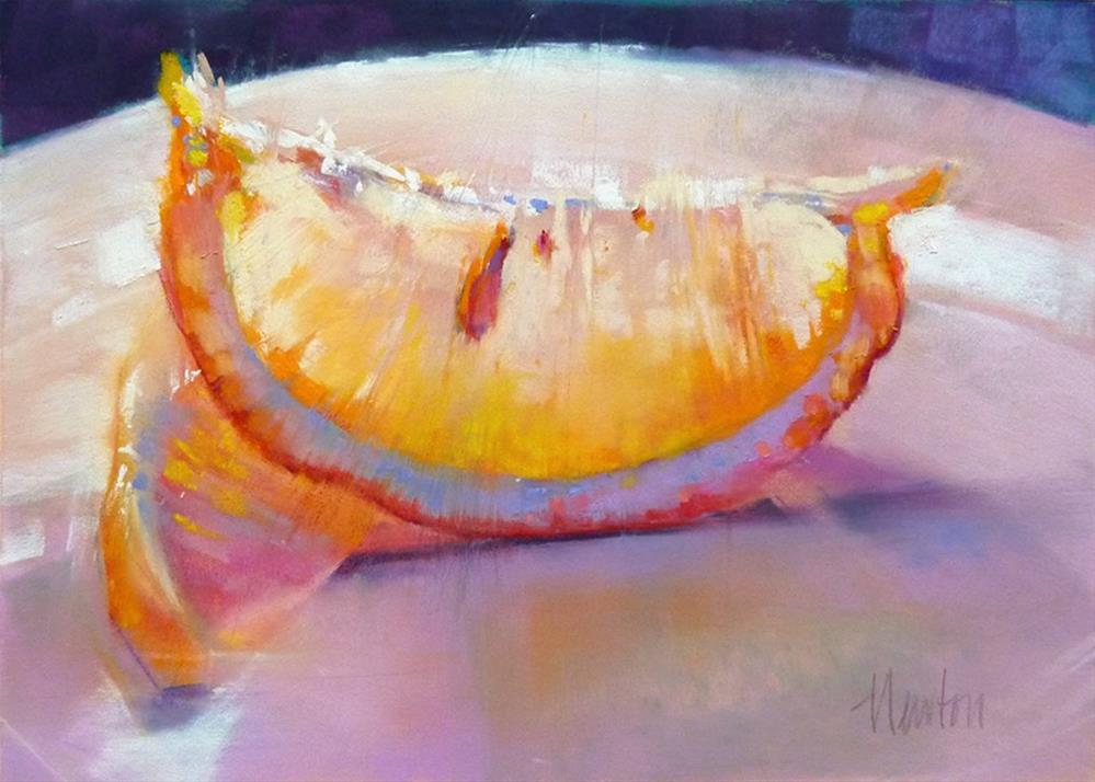 """Lemon #5"" original fine art by Barbara Benedetti Newton"