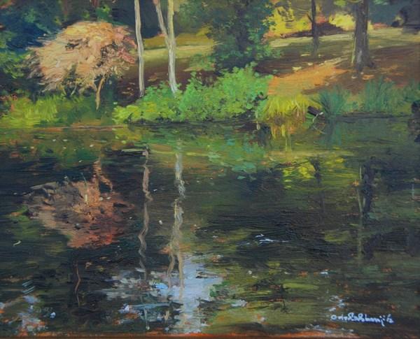 """Shady Summer refections"" original fine art by Adebanji Alade"