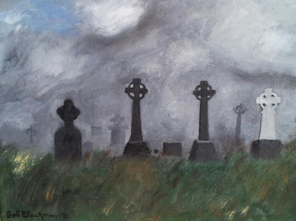 """Aran Island Cemetery, Republic of Ireland"" original fine art by Bob Blackmon"