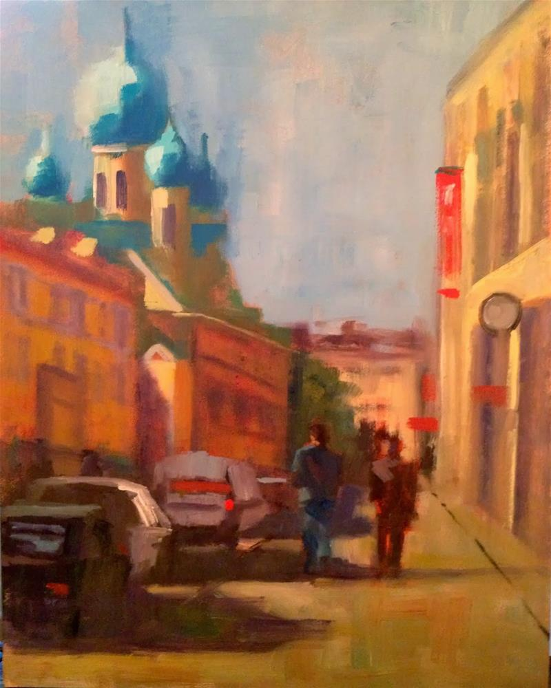 """Monday Morning, St. Petersburg, 8x10"" original fine art by Ann Feldman"
