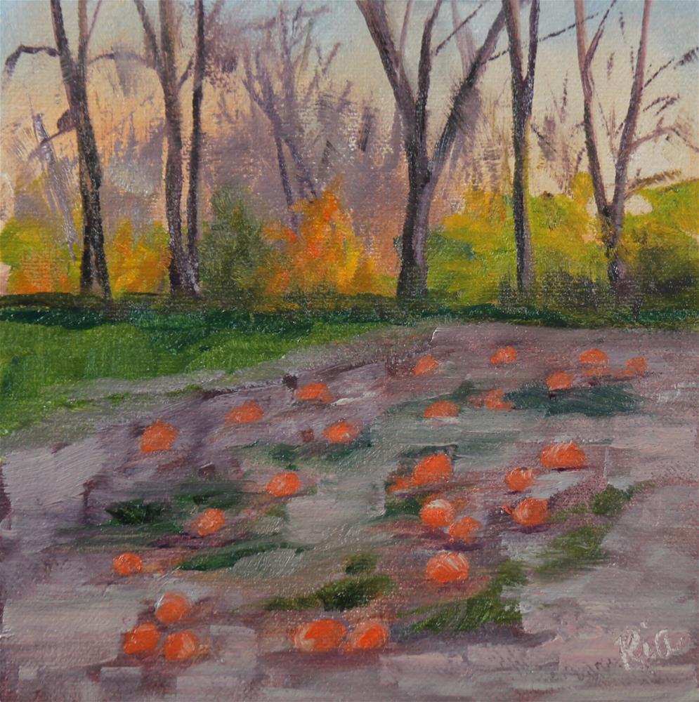 """Autumn Dusk"" original fine art by Maria Reed"