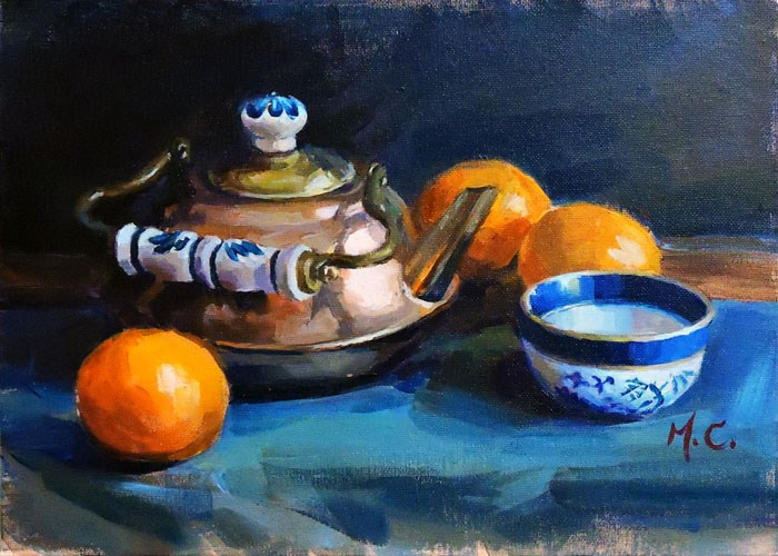 """Copper Pot"" original fine art by Michelle chen"