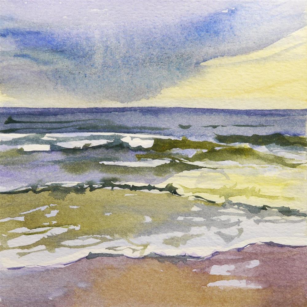 """small waves"" original fine art by Beata Musial-Tomaszewska"