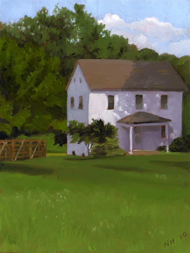 """SIMPLE OLD HOUSE"" original fine art by Nancy Herman"