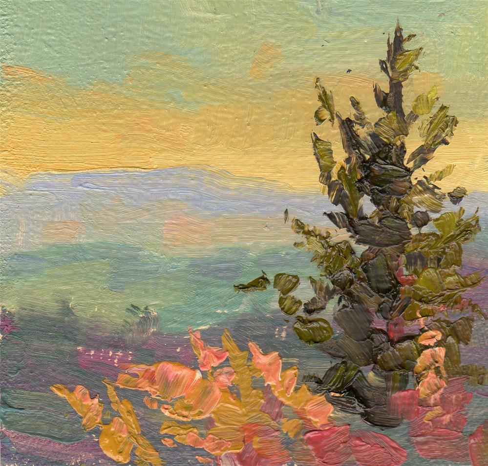 """""""JONSRUD PINE"""" original fine art by Karen E Lewis"""