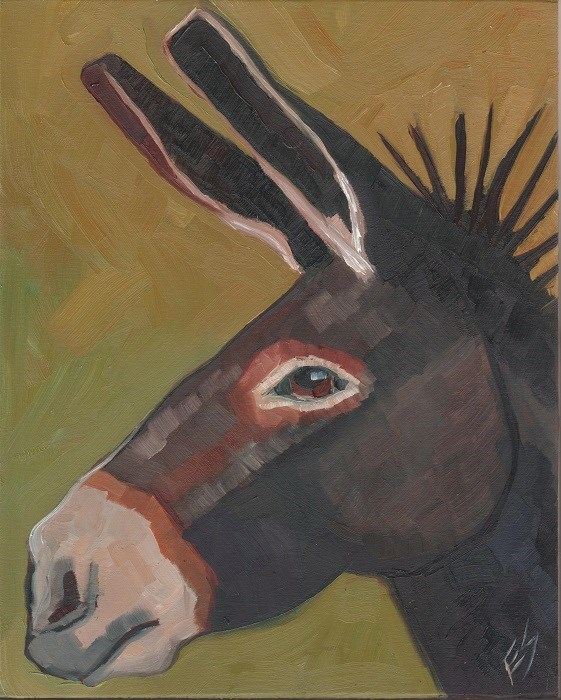 """Donkey Original Oil Painting"" original fine art by Elizabeth See"