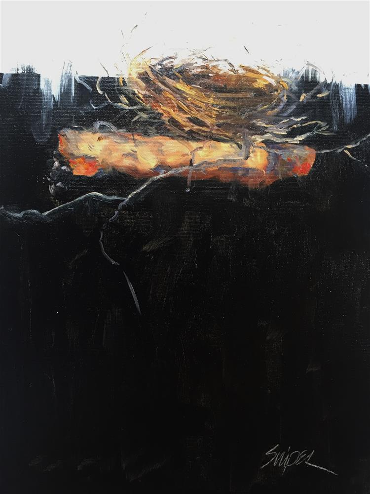 """""""Bird Nest, Day 2"""" original fine art by Connie Snipes"""