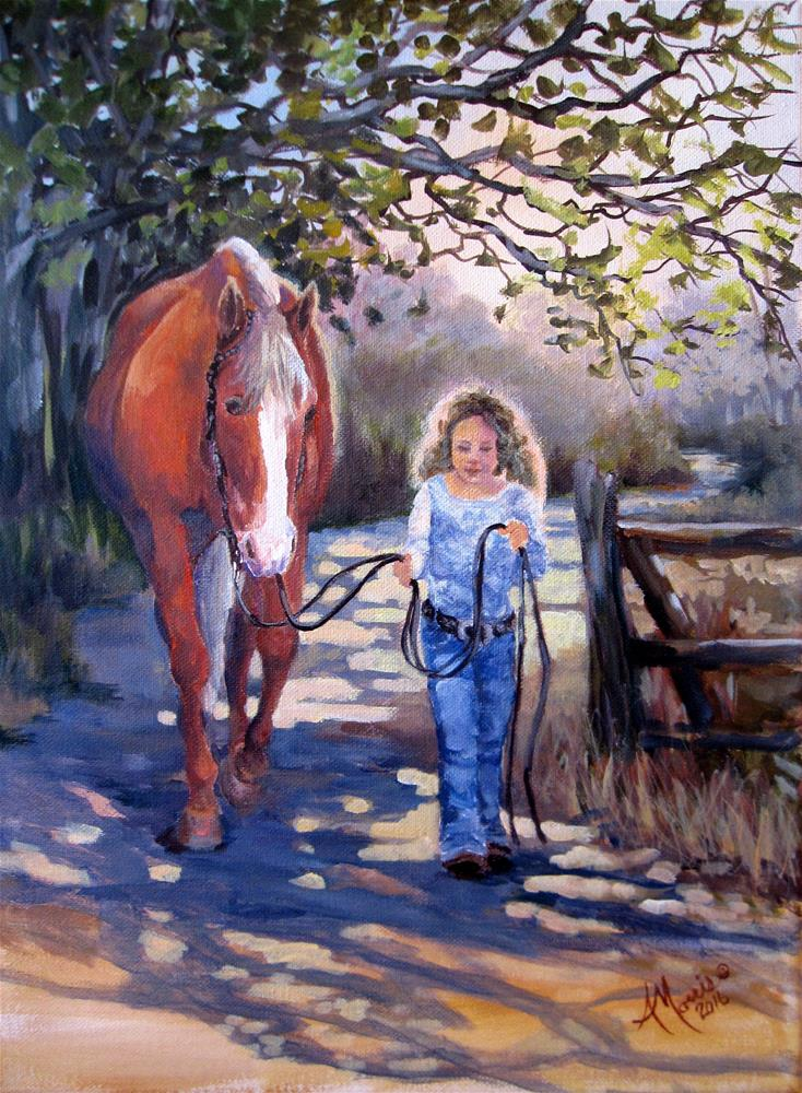 """Walking Daisy"" original fine art by Andrea Morris"