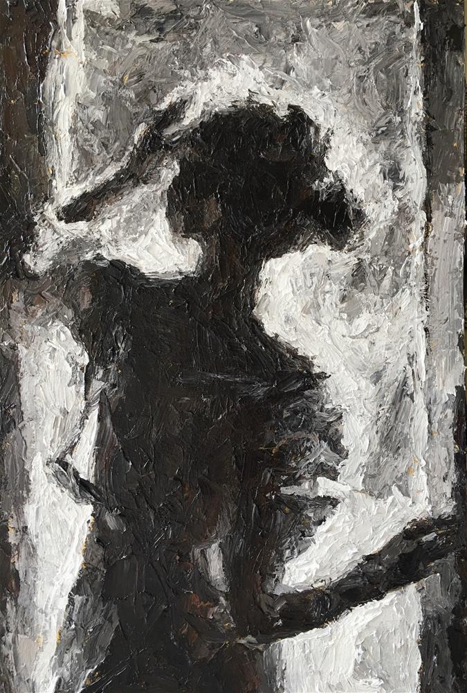"""""""Finding Her Way"""" original fine art by Nava Judith"""