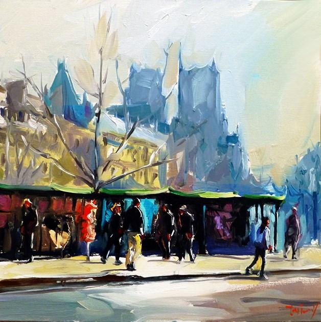 """""""In der nähe von Notre Dame"""" original fine art by Jurij Frey"""