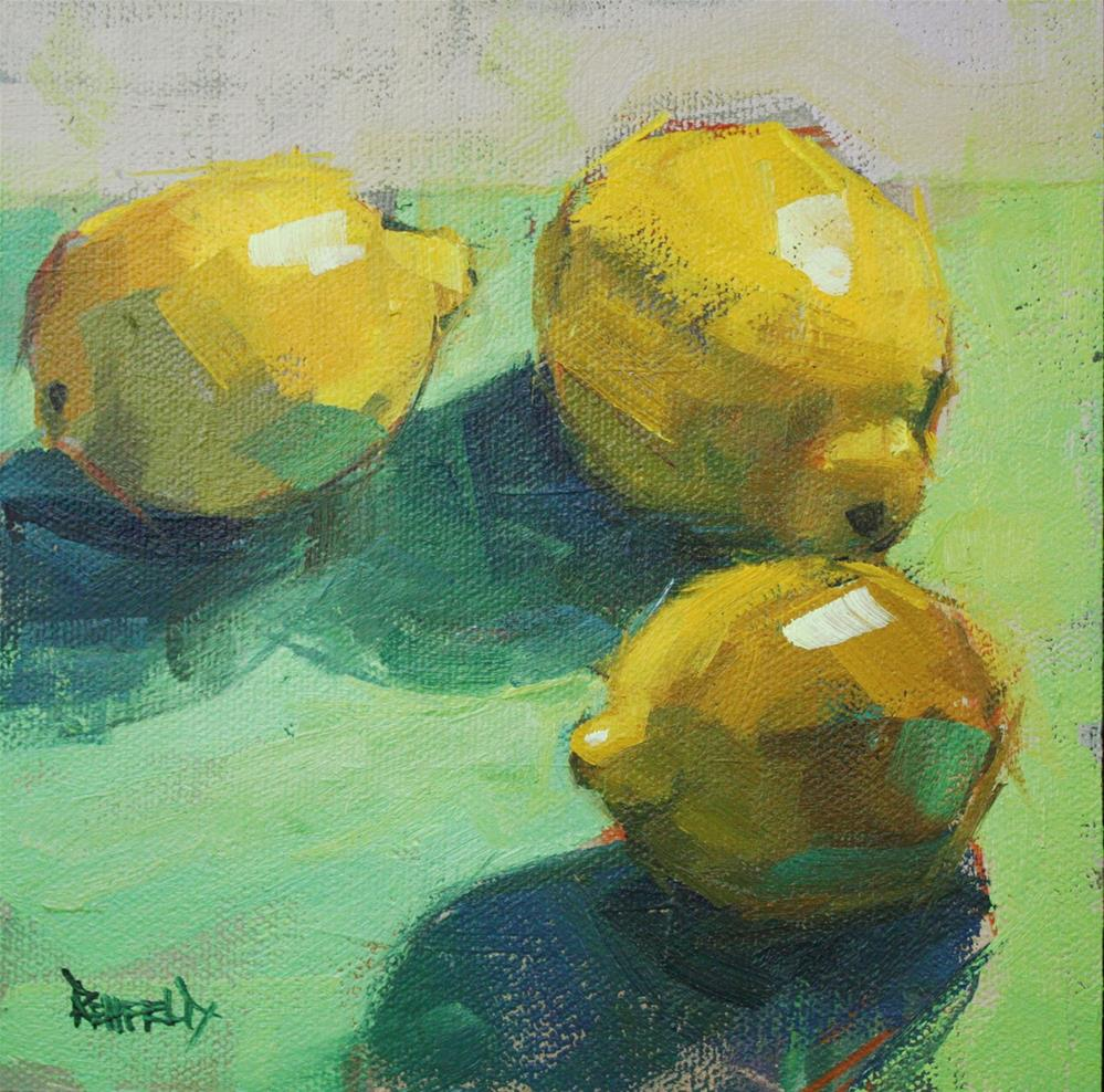 """Palette of Lemon"" original fine art by Cathleen Rehfeld"