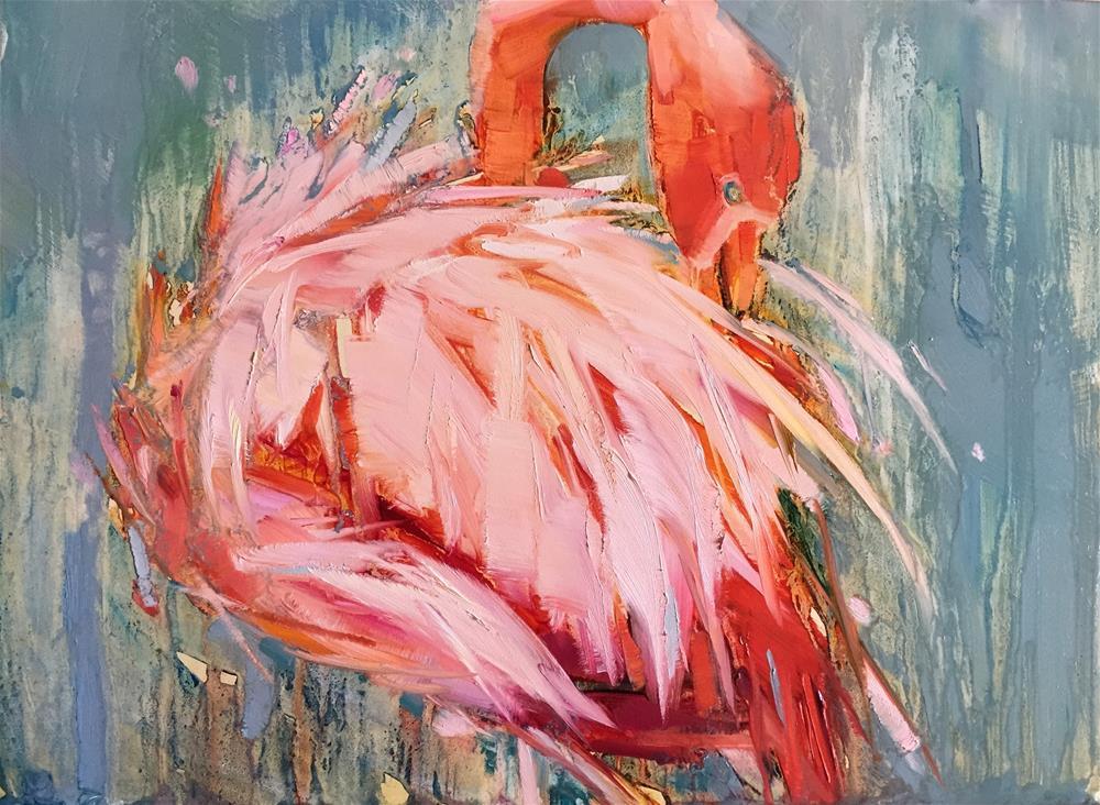 """Tuck"" original fine art by Kathleen Broaderick"
