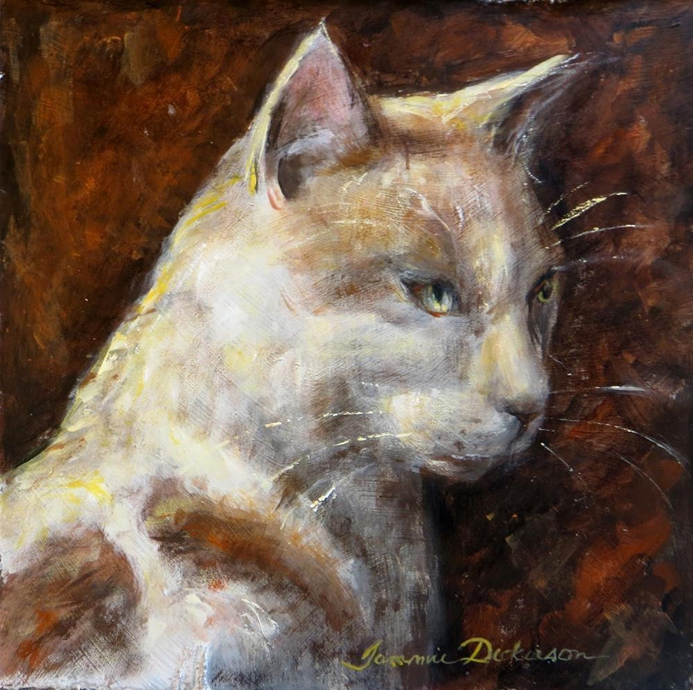 """Brother Cat II"" original fine art by Tammie Dickerson"