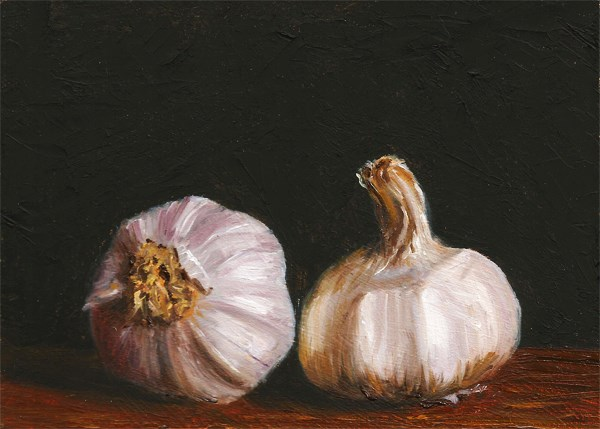 """Two Heads Of Garlic"" original fine art by Peter J Sandford"