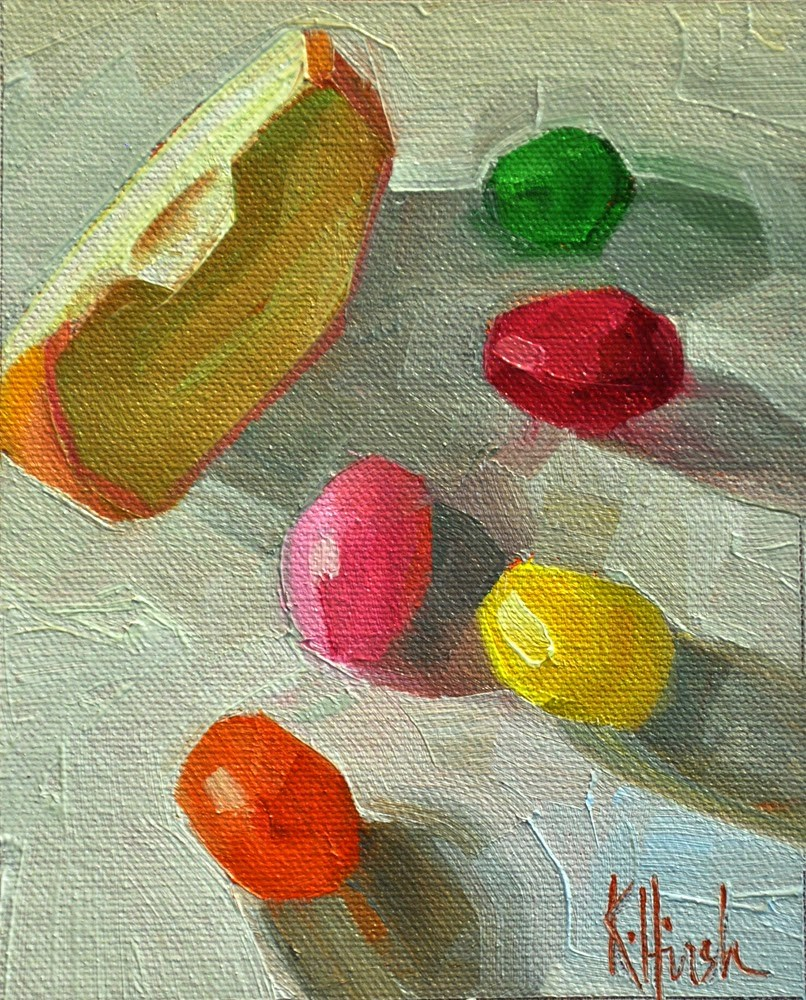 """Attack of the Jelly Beans"" original fine art by kathy hirsh"