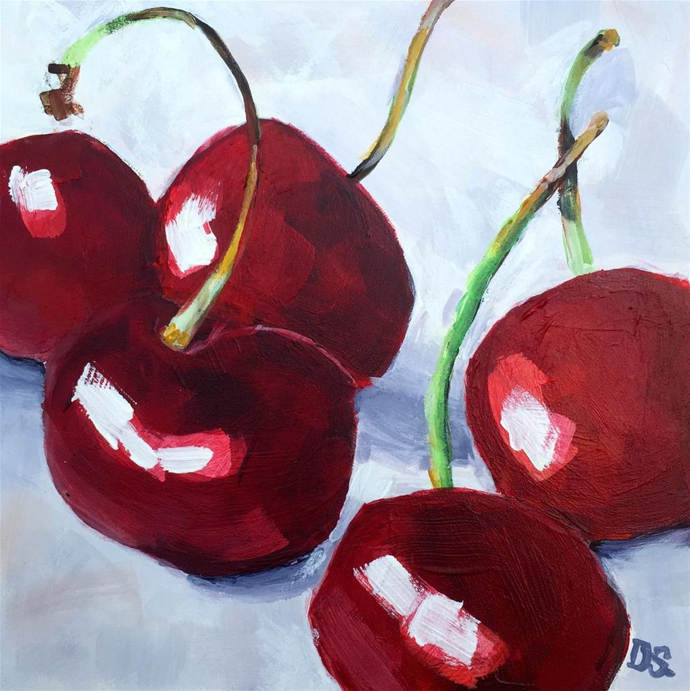 """California Red Cherries"" original fine art by Diana Stewart"