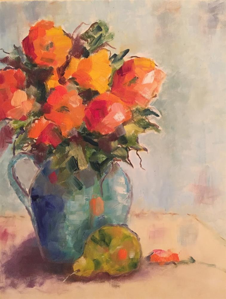 """Wednesday Flowers"" original fine art by Gayle Lambeth"