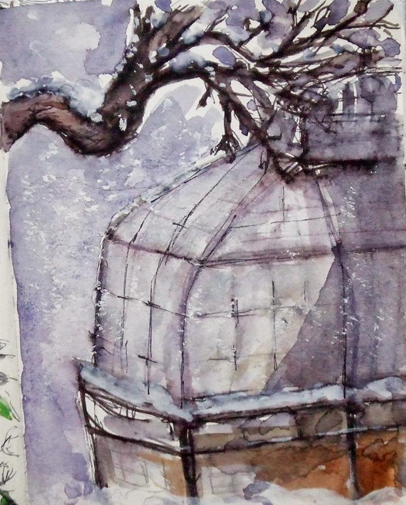 """Study-Watercolour"" original fine art by Mitsuru Cope"