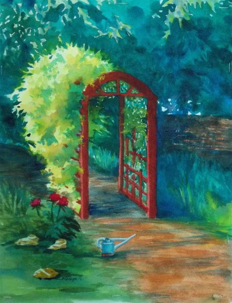 """A Garden for Lee"" original fine art by Becky Chappell"