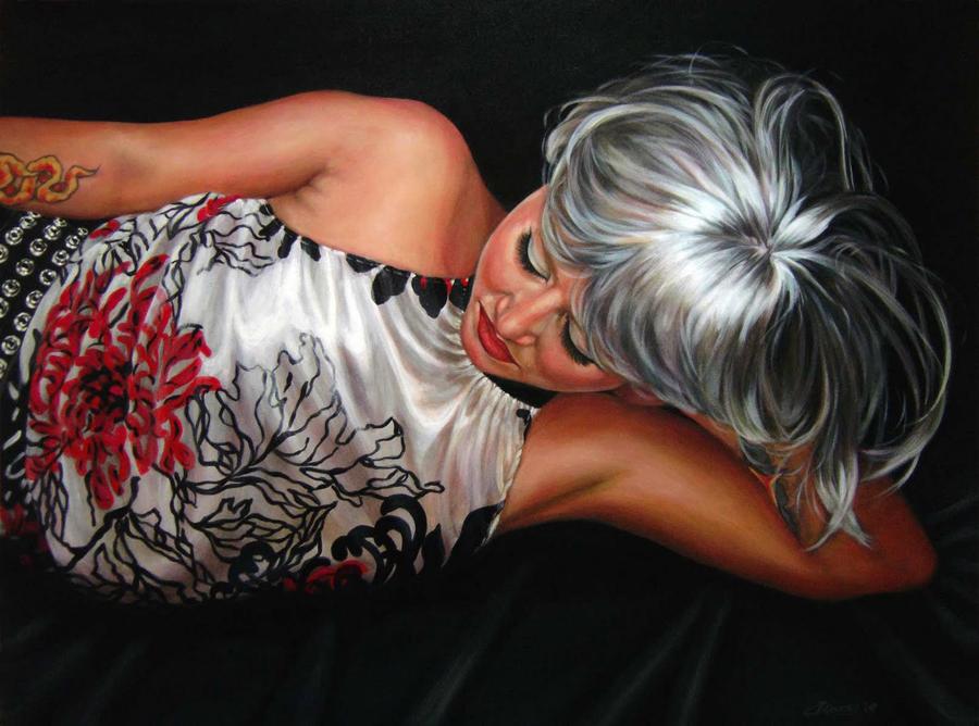 """""""Gettin Wiggy Wit It #1"""" original fine art by Angela Hardy"""