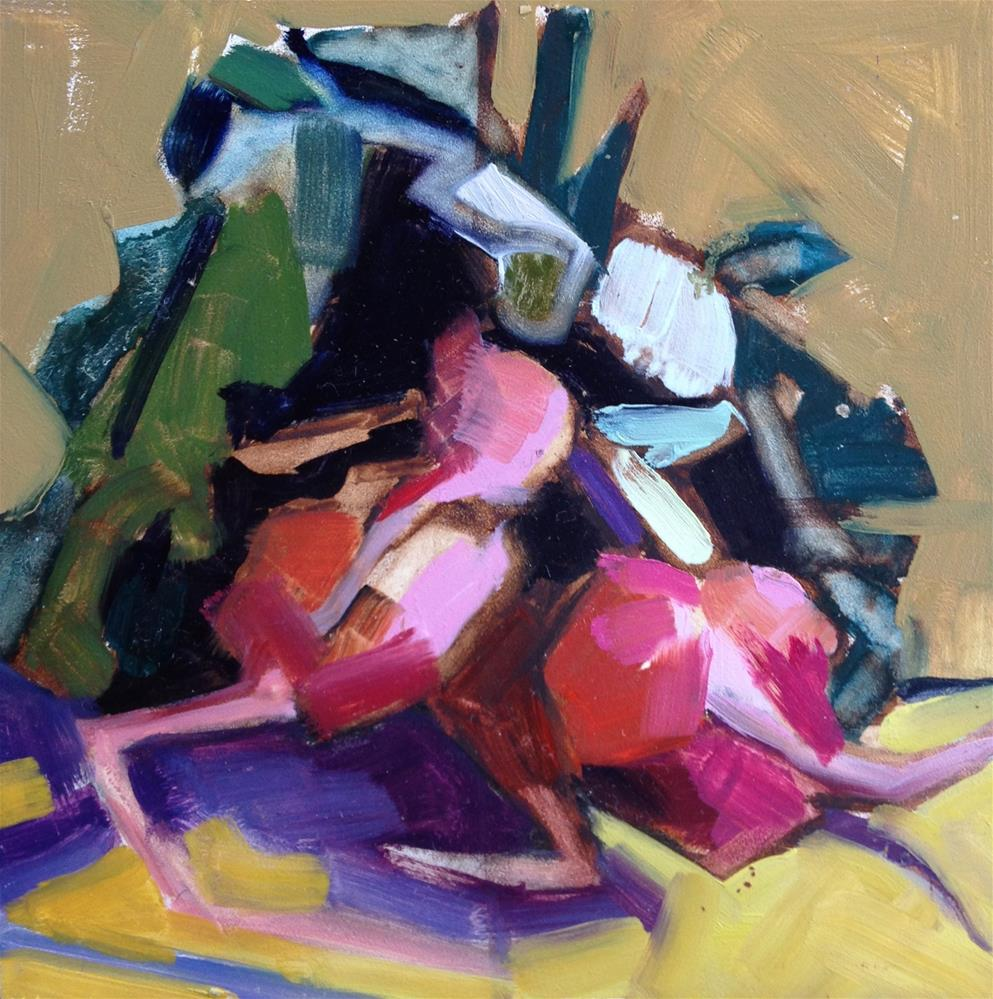 """More Underground Roses"" original fine art by Pamela Hoffmeister"