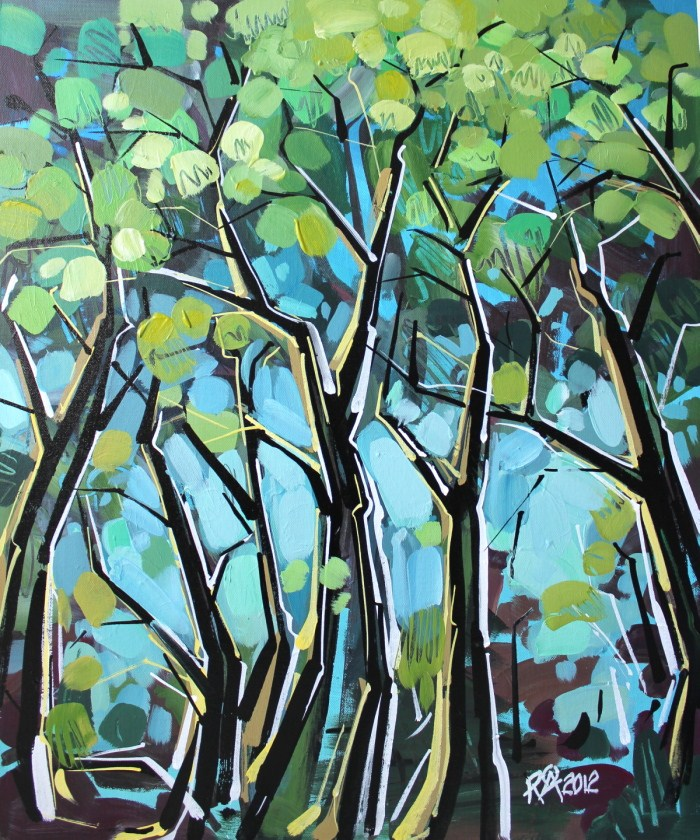 """Tree abstraction 8"" original fine art by Roger Akesson"