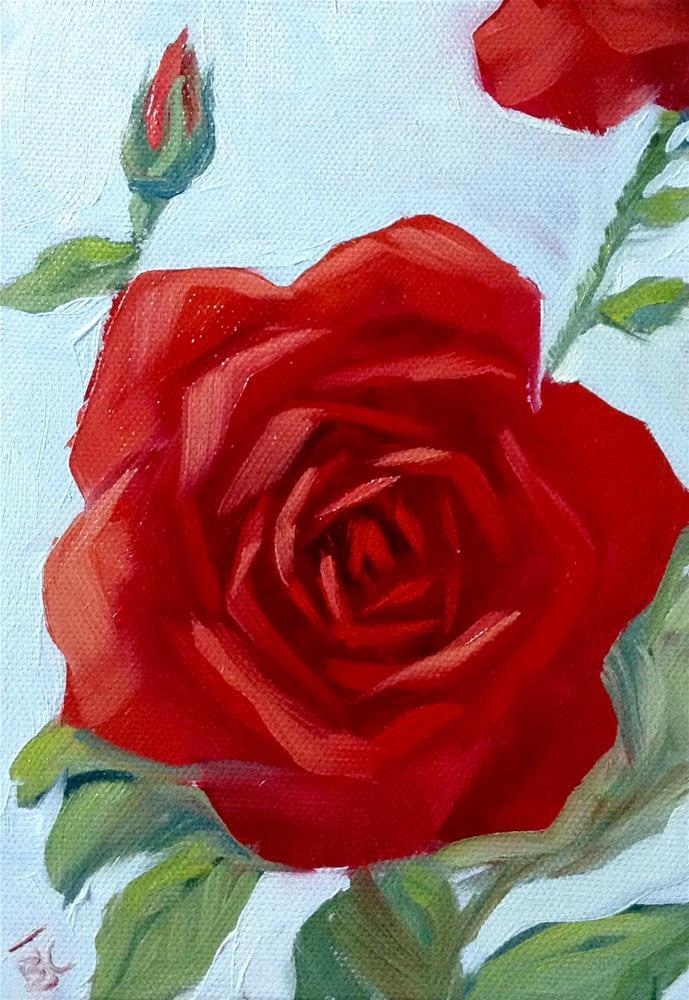 """Big Red"" original fine art by Bobbie Cook"