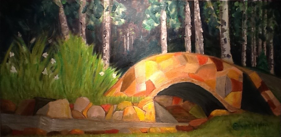 """THE BRIDGE TO NOWHERE"" original fine art by Charlotte Bankhead Hedrick"