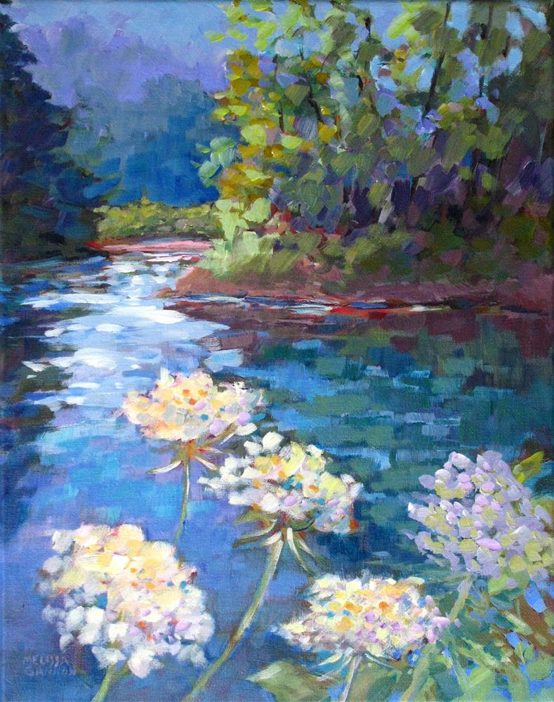 """Queen Anne's Lace by the River"" original fine art by Melissa Gannon"
