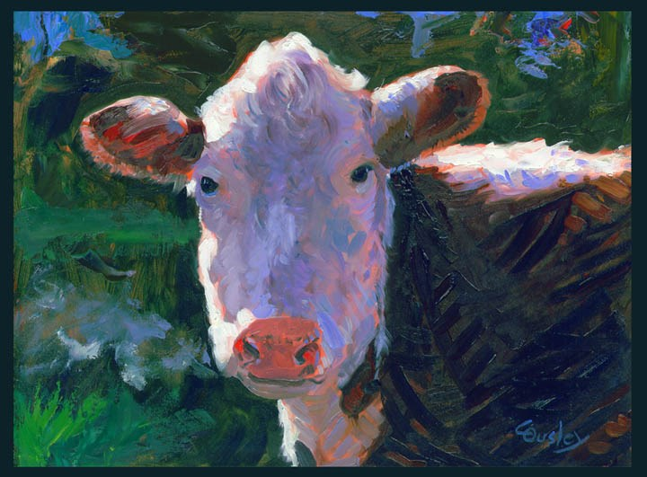 """Chilly Cow"" original fine art by Chris Ousley"