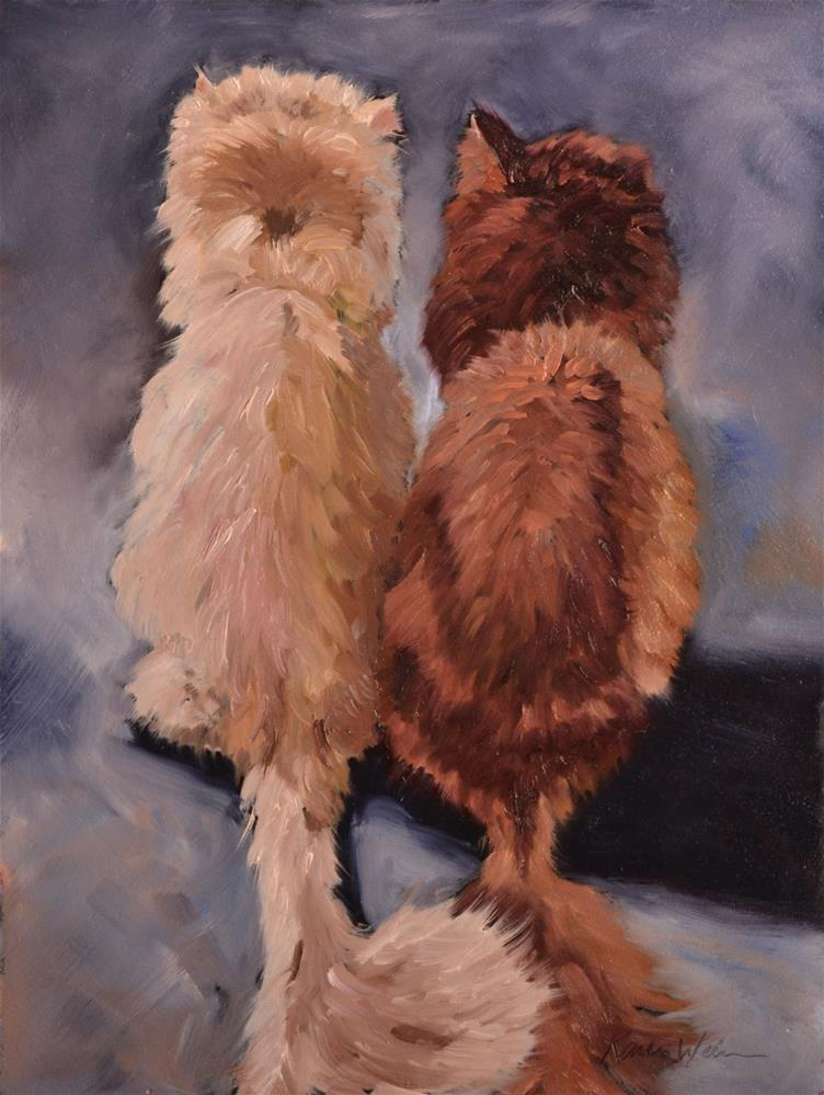 """Friends"" original fine art by Karen Weber"