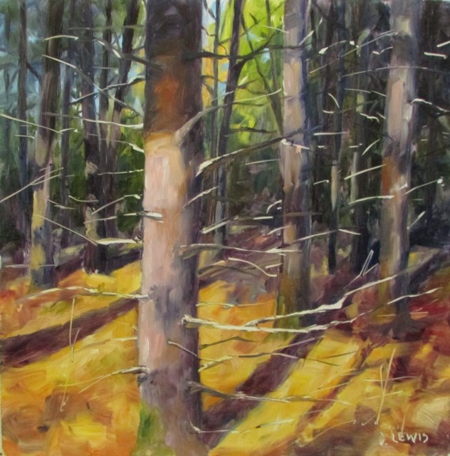 """Bright Limbs"" original fine art by Christine Lewis"