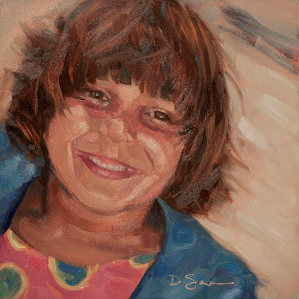 """Eyes of Love No.7 Annie"" original fine art by Deborah Savo"