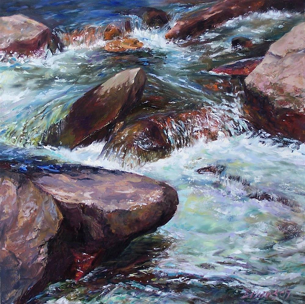 """Poudre River"" original fine art by Donna Munsch"