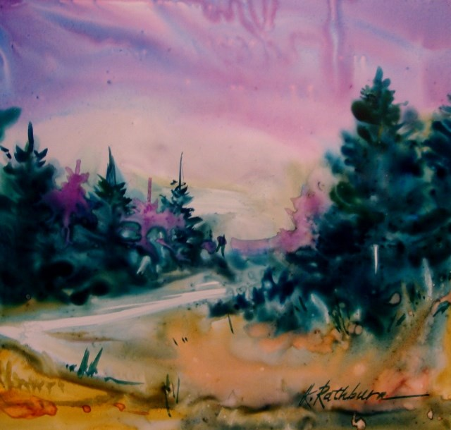 """Something New"" original fine art by Kathy Los-Rathburn"